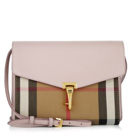 c7a7c4a0c8a46 Burberry Tasche – Macken Crossbody House Check Derby Leather Pale Orchid –  in rosa
