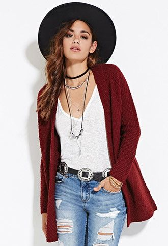 Clothes · Longline Open-Front Cardigan ...