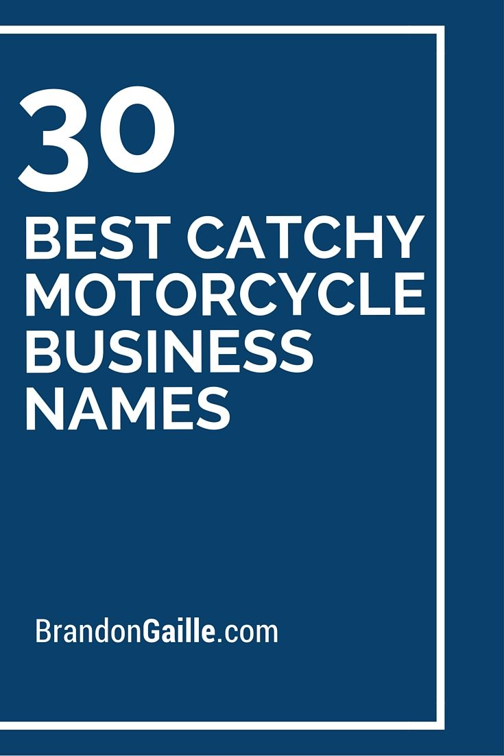 401 Best Catchy Motorcycle Business Names Anniversary Quotes For