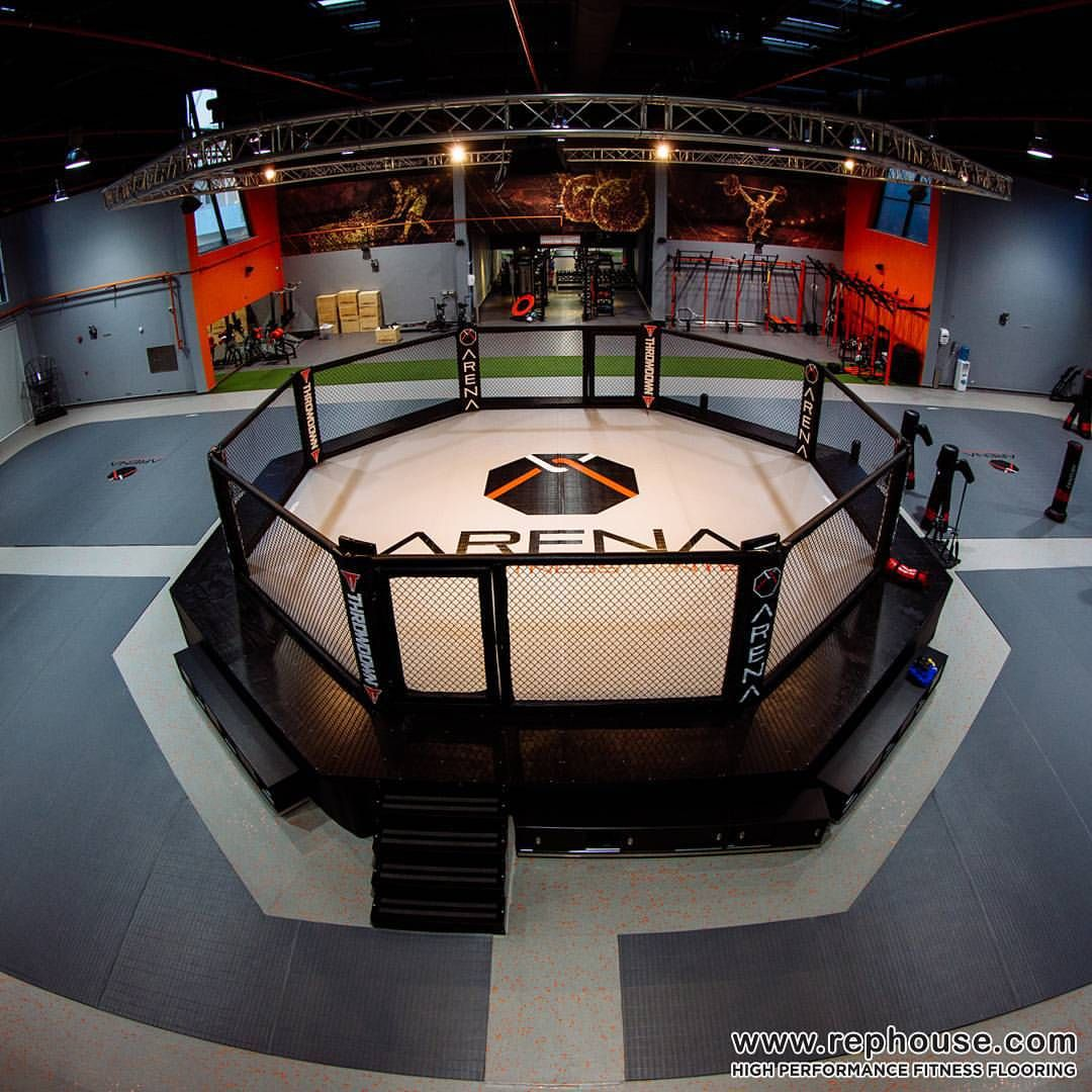 Neoflex High Performance Fitness Flooring Arenasaudi One Of The World S Largest Crossfit Mma Arenas Mma Gym Gym Interior Fight Gym