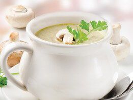 The Cream of #Mushroom is a simple yet mouthwatering #soup crafted with rich cream and mushroom broth, topped off with a variety of mushrooms.