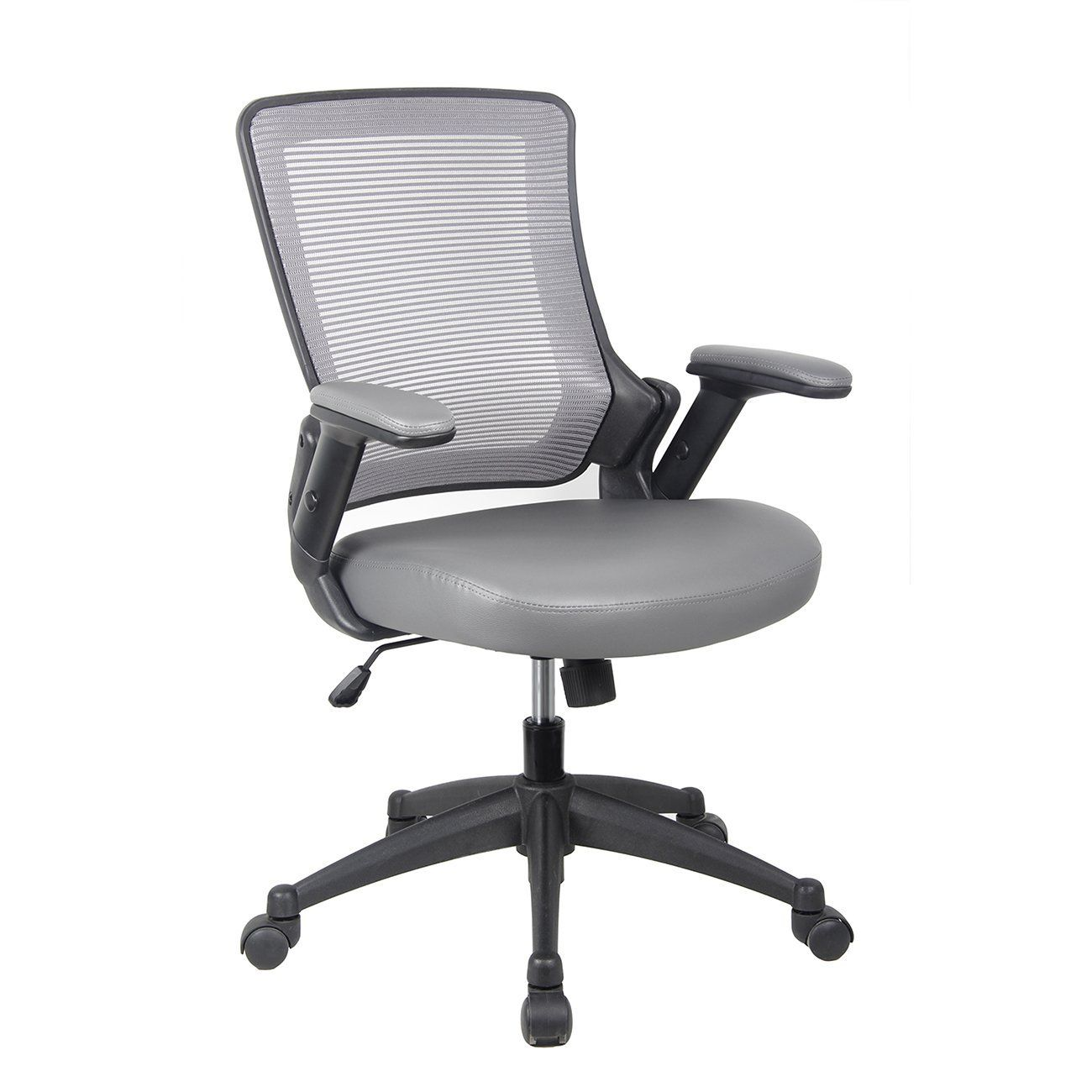 Techni Mobili Mid-Back Mesh Task Office Chair With Height