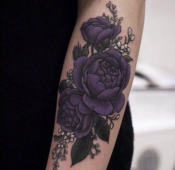 Pin By Diana L On Dbaby Purple Tattoos Tattoos