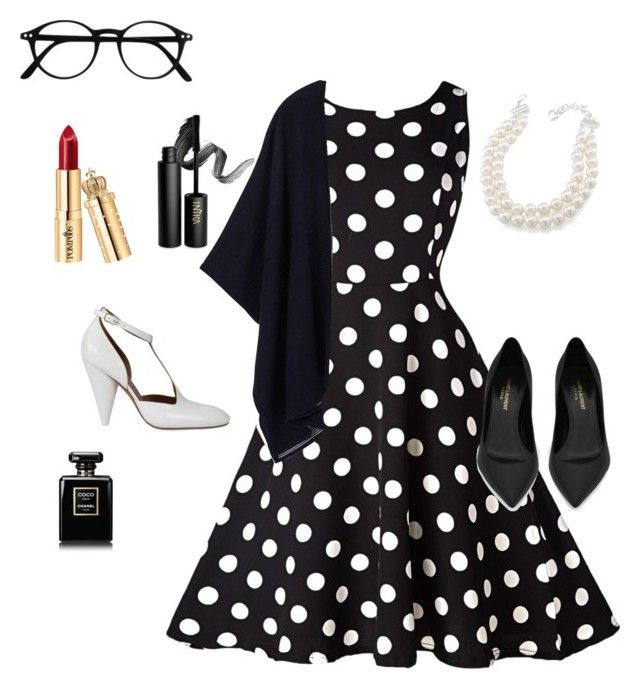 """""""2"""" by university-apples-books on Polyvore featuring мода, INIKA, Carolee, Yves Saint Laurent, CÉLINE, Chanel и Tory Burch"""