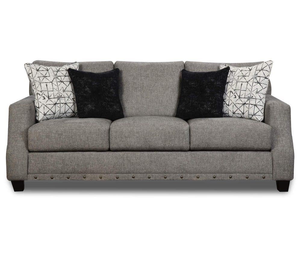 Broyhill Alexandria Gray Sofa In 2020 With Images