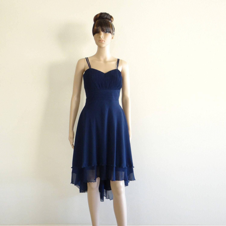 Navy blue bridesmaid dress evening dress by lynamobley blue