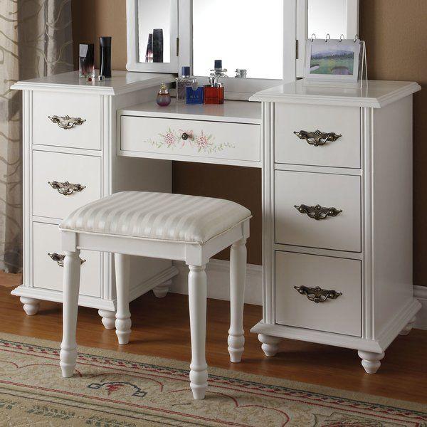 Torian Vanity Set Bedroom Vanity Set White Bedroom Vanity