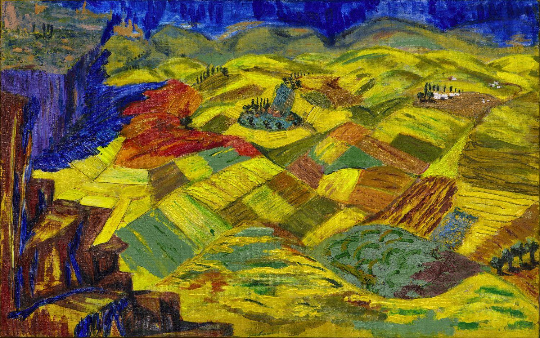 Canvas Wall Art - Armenian Hot Summer - Acrylic Painting On Canvas ...