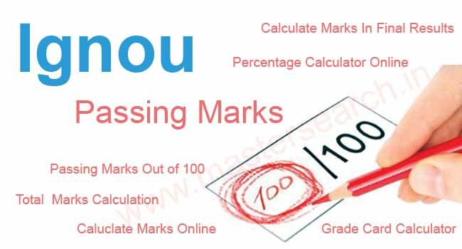 Calculate Ignou Passing marks Ignou Pinterest Calculator - sample time card calculator