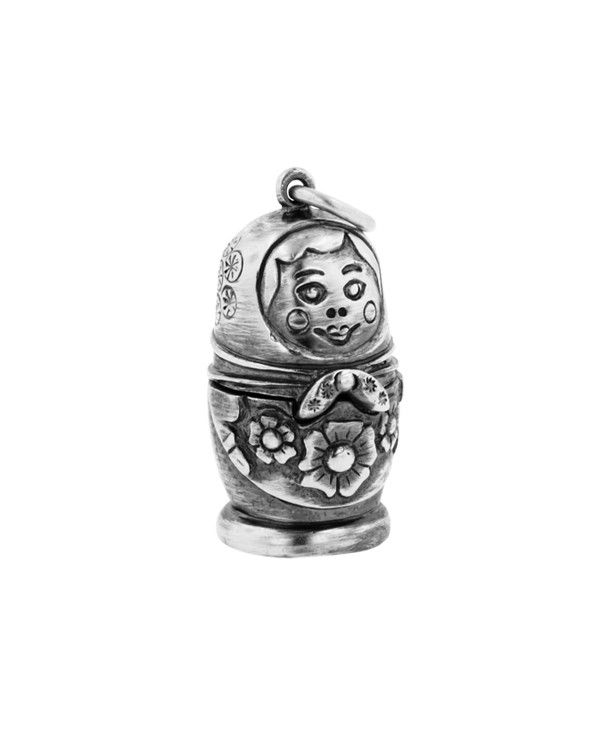 Silver Russian Doll charm