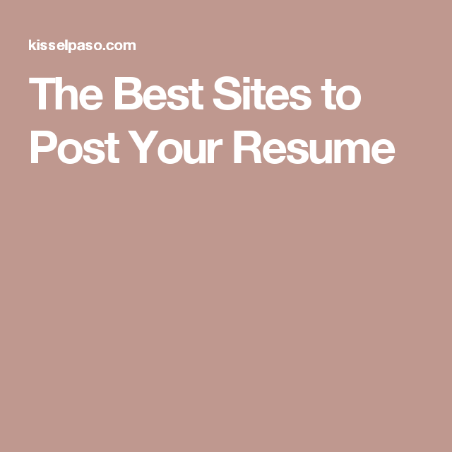 the best sites to post your resume job search pinterest job