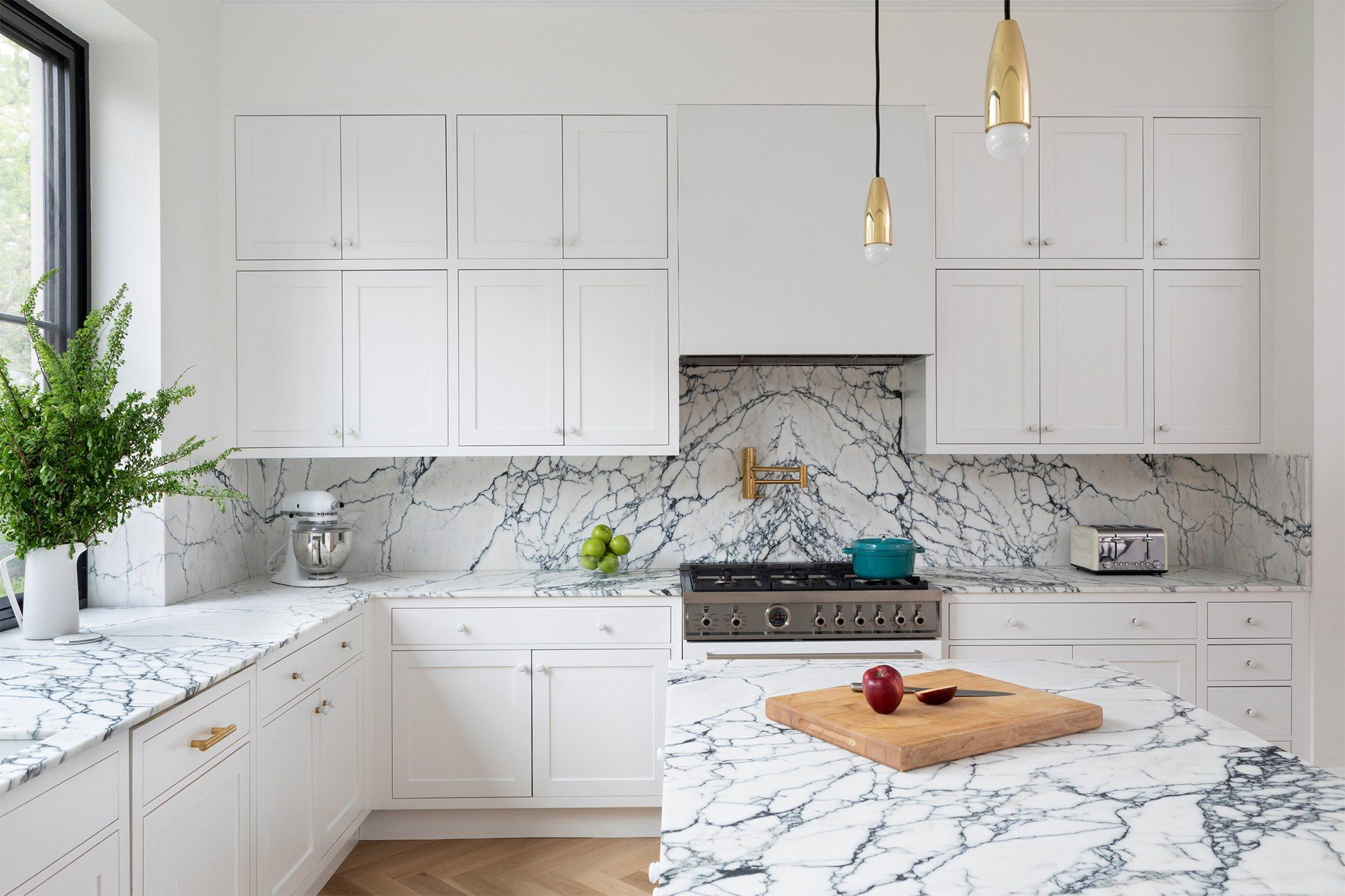 8 White Kitchen Cabinet Ideas You Can T Call Vanilla In 2020 White Kitchen Cabinets White Kitchen Kitchen Flooring