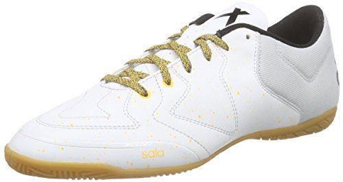 adidas X 15.3 CT, Chaussures de Football Compétition Homme, Mehrfarbig, Blanc/Jaune/Noir (Balcri/Brgrcl/Negbas), 44 EU