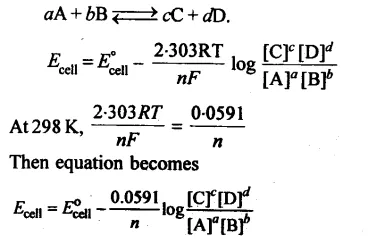 Electrochemistry Class 12 Notes Chemistry Chapter 3