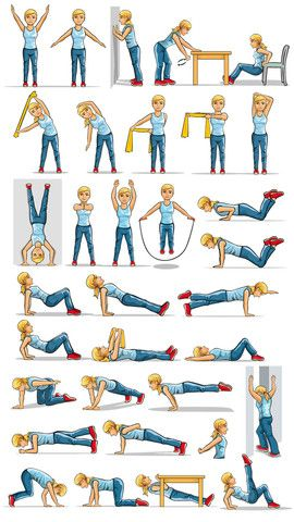 variety of upper body exercises  vrouw