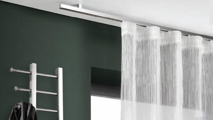 Gardinensysteme Decke details zu interstil flachprofil vorhangstange aluminium