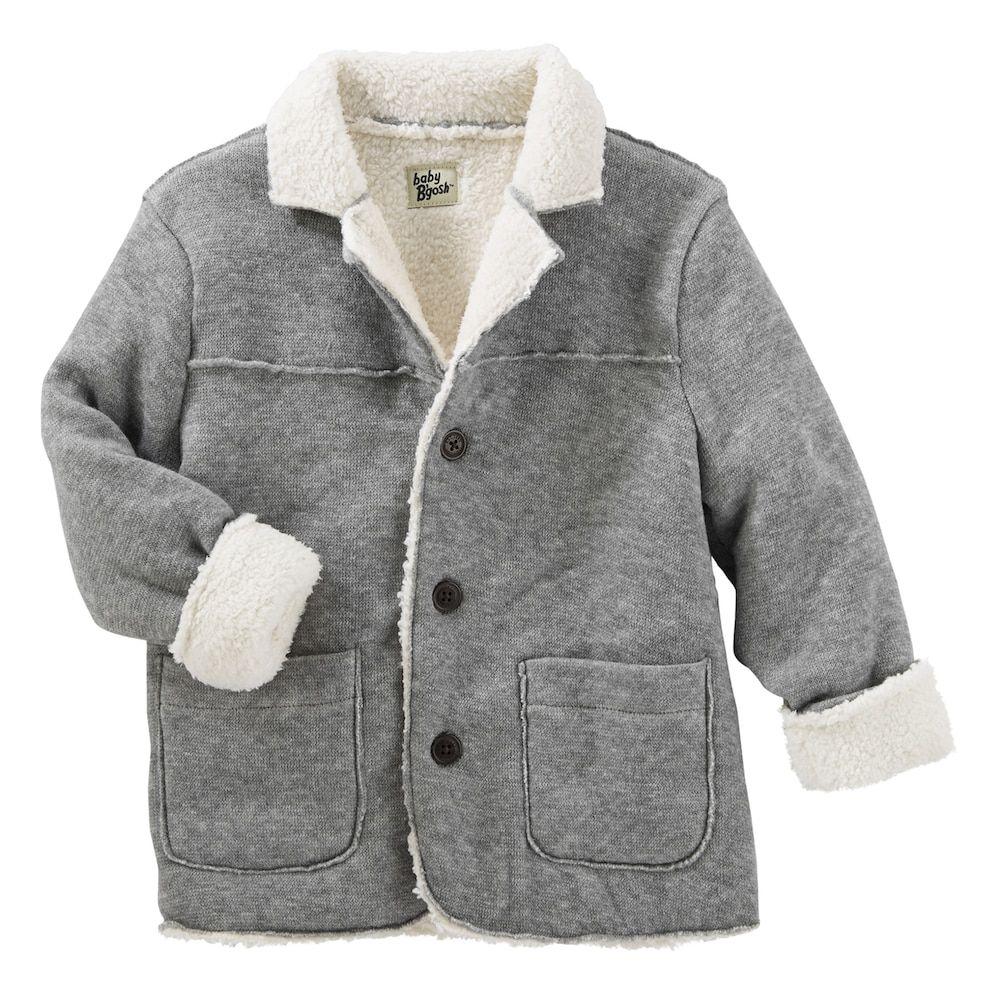 c6002c6f419c Toddler Boy OshKosh B gosh® Sherpa Lined Knit Fleece Jacket