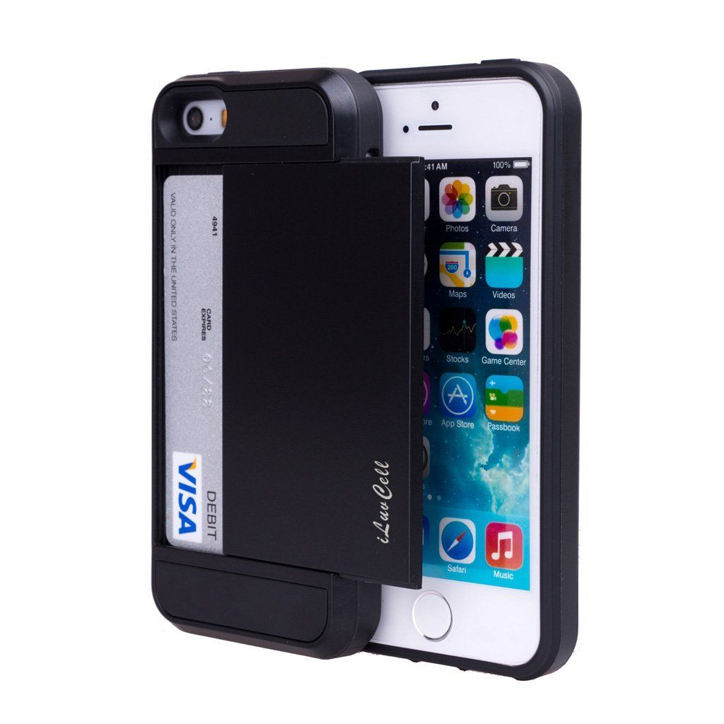wholesale dealer 9aaf9 4754d Amazon.com: iPhone 5S Case, iPhone 5 Case, iPhone 5/5S Wallet Case ...