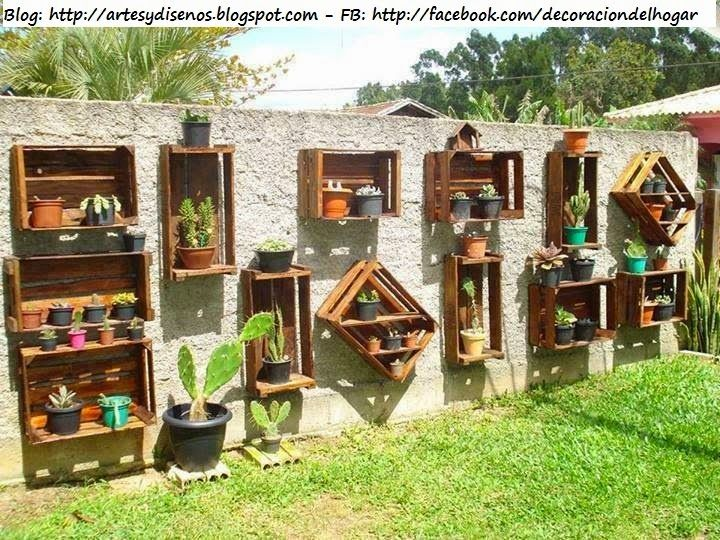 Ideas para decorar un jard n vertical by artesydisenos for Decoracion palets jardin