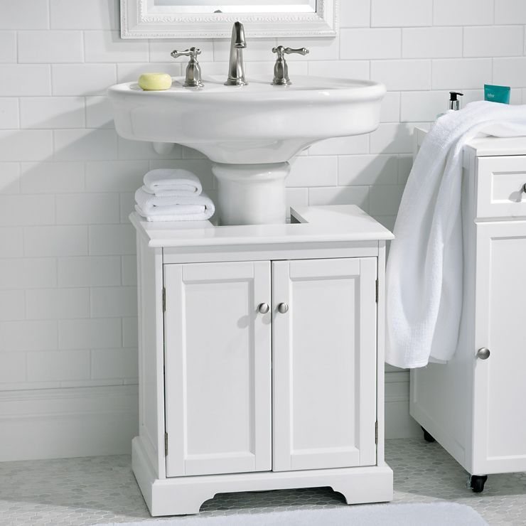 Weatherby Bathroom Pedestal Sink Storage Cabinet  Pedestal Sink Awesome Maximize Space In Small Bathroom Design Inspiration