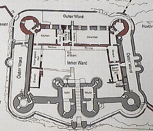 Castle Layout Medieval Times Middle Ages Pinterest - Diagram of medieval castle layout