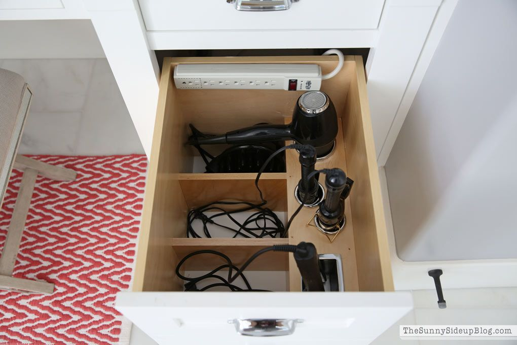 How To Organize Your Bathroom Drawers With Products Like This Hair Tool  Storage Drawer Insert.