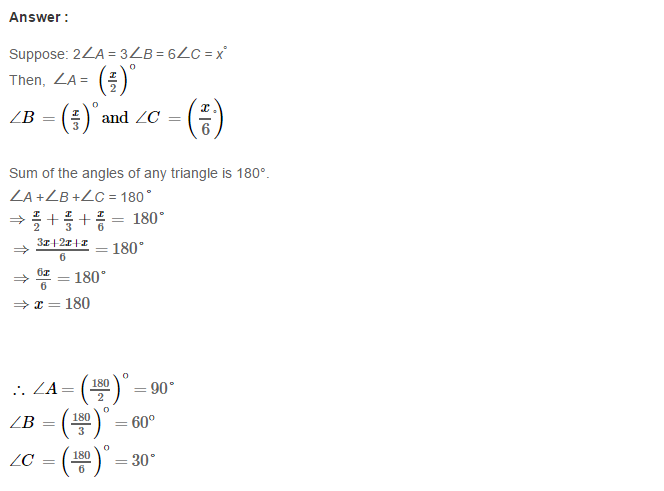 Properties of Triangles RS Aggarwal CBSE Class 7 Maths Solutions ...
