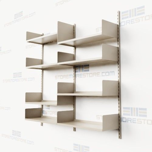 Wall Mounted Shelving With Vertical Adjusting Steel Shelves Wall
