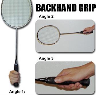 Cara Memegang Raket Backhand Grip Badminton Raket Badminton