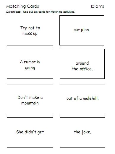 Pin On Esl Idiom worksheets for 2nd grade