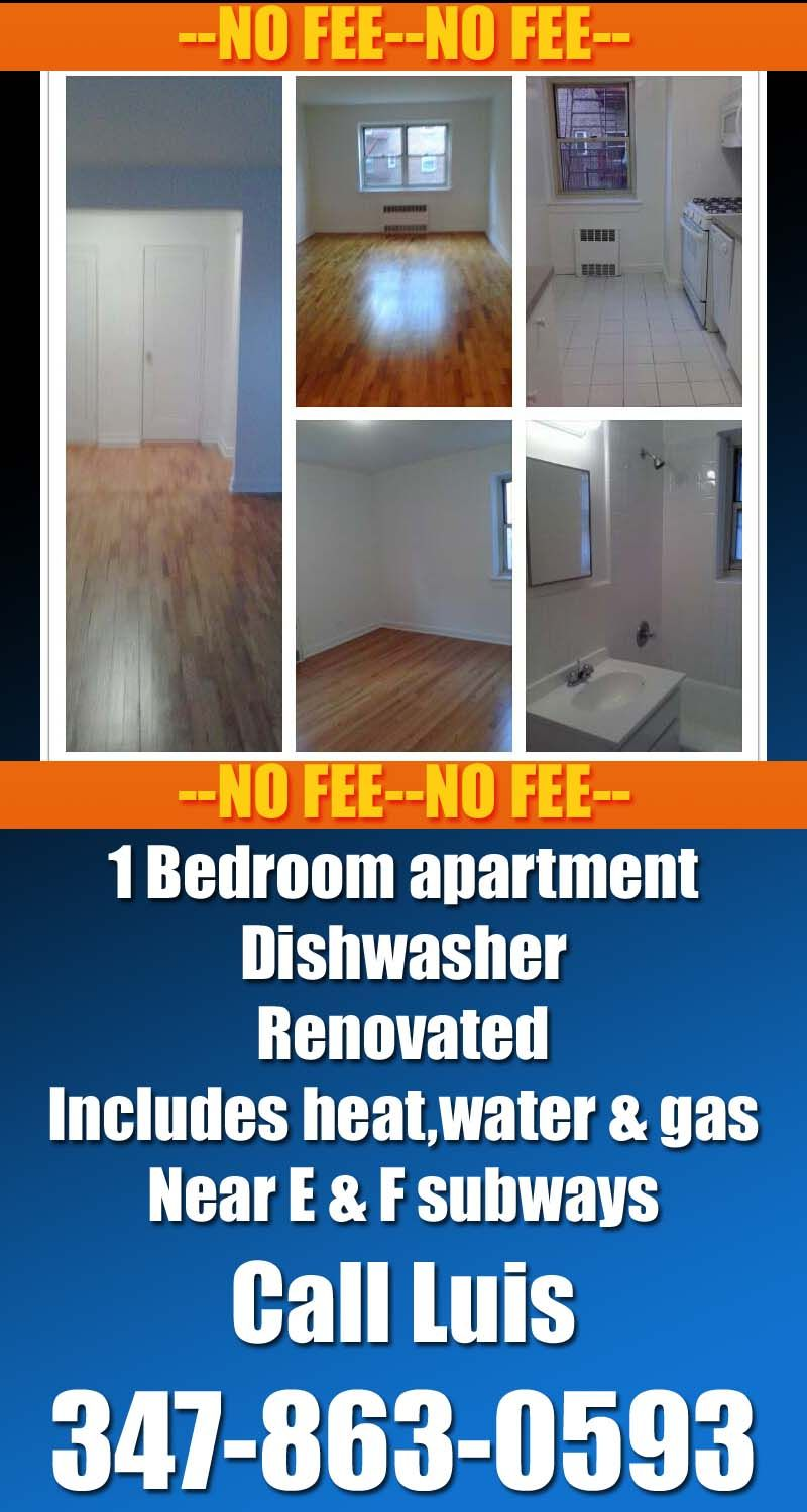 1350 No Fee Fully Renovated 1 Bedroom Apartment For