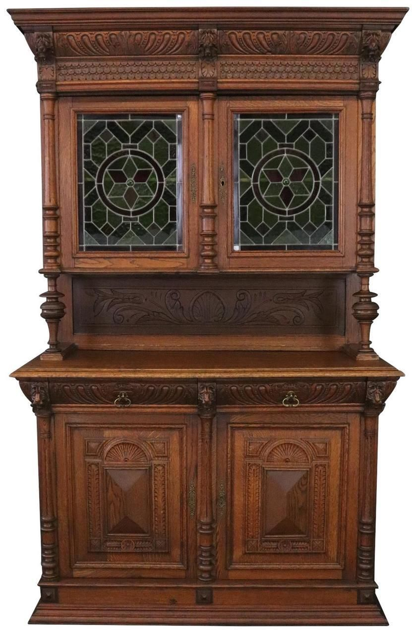 Eurolux Home Buffet Mechelen Renaissance Antique 1890 Oak Wood