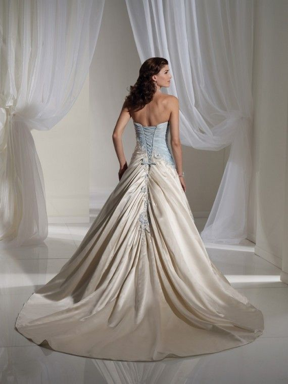 BACK)Light Blue and White Combination Wedding Dress by Sophia ...