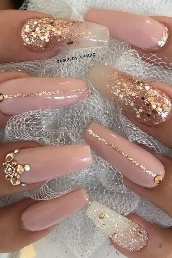 36 Pretty Nude &Ombre Acrylic And Matte White Nails Design For Short And Long Nails : Page 36 of 36 : Creative Vision Design