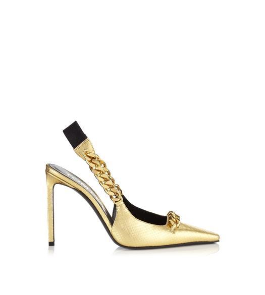 Python chain slingback pump | Zapatos cómodos, Zapatos dama