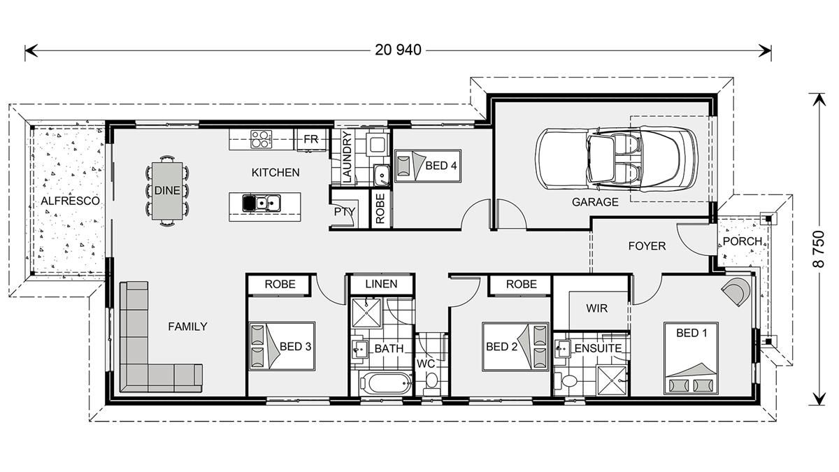Two Story House Plans With Finished Basement House Design House Plans Country House Design