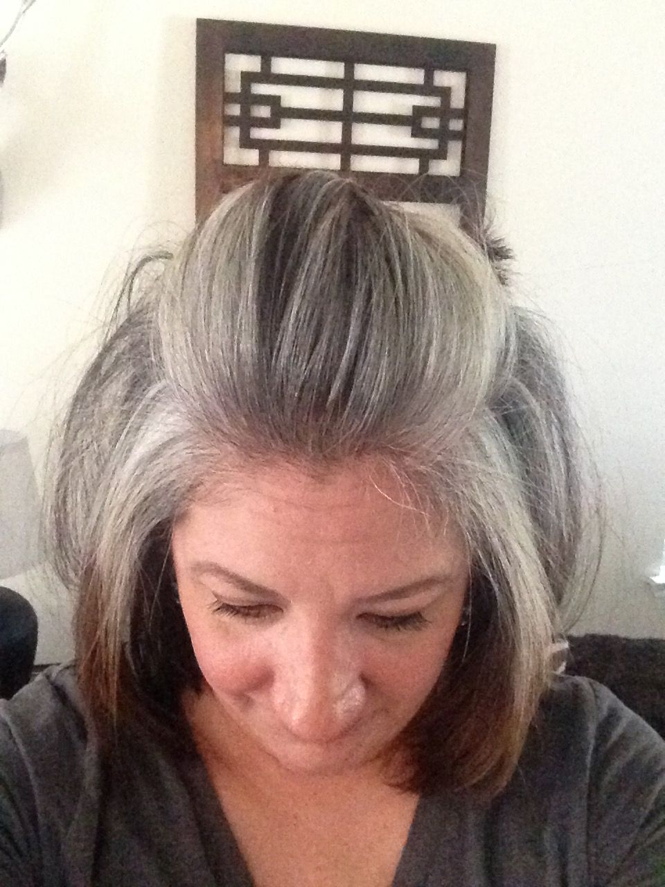 3 1 2 Months Of Growing Out My Grey Naturally Doesn T Feel Any Different Than My Natural Hair Did In Fac Gray Hair Growing Out Dying Gray Hair Long Gray Hair