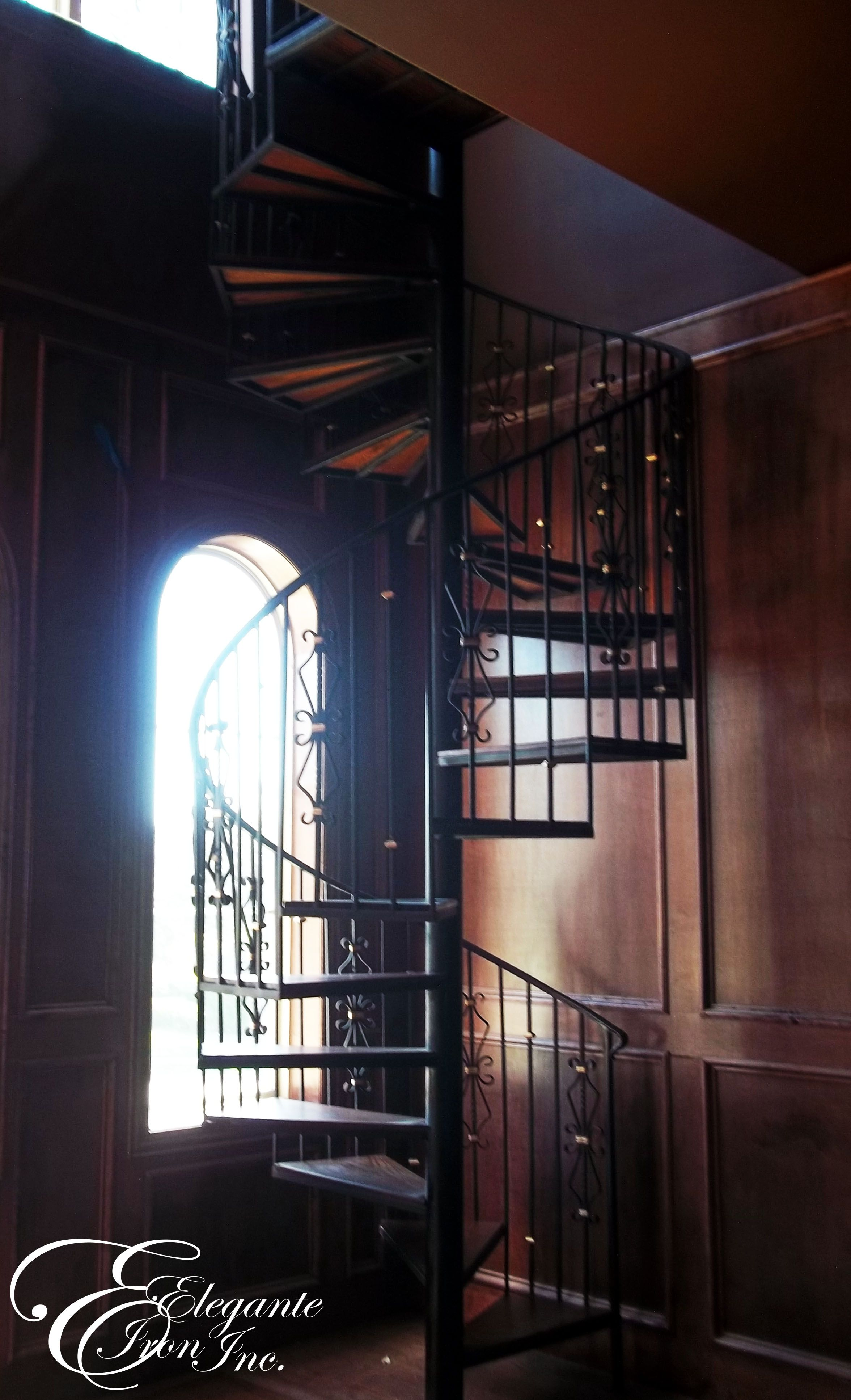 Best Custom Wrought Iron Spiral Stairs Stair Railing Spiral 400 x 300
