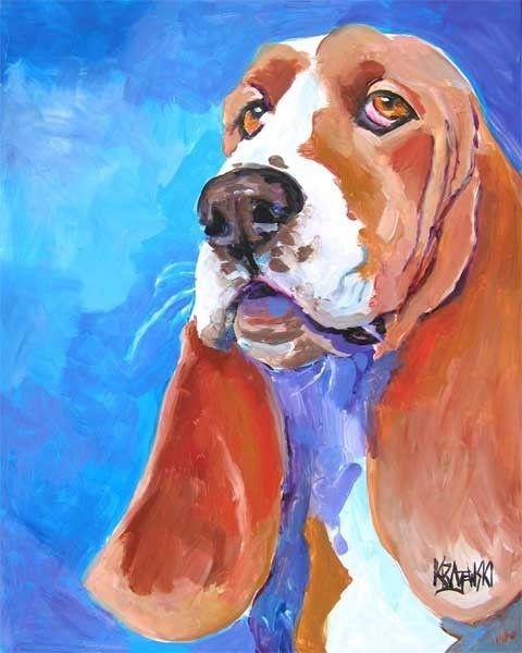 Bassett hound from Dog Art Studio on Etsy.com