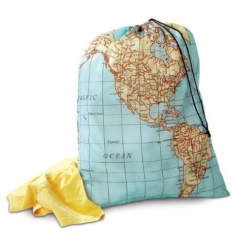 Maps Travel Laundry Bag Bags Travel Essentials Travel