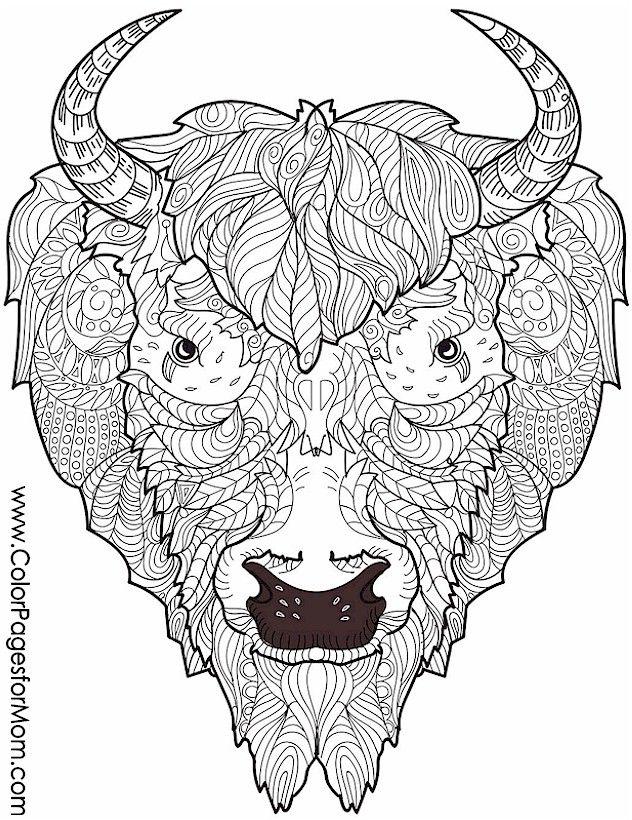 animal coloring - signo do Búfalo no zodíaco chinês   mandalas ...