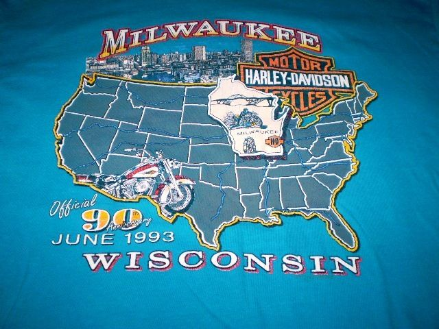 Harley Davidson Dealers In Wisconsin Map.Harley Davidson Blue T Shirt Xl Milwaukee Wisconsin Harley