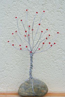 Diy En Wire  Tree | Kifli Es Levendula Diy Wire Bead Rock Tree Crafts Diy