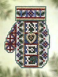 Ornament Ornament Cross gold Petite Dimensions Counted X Stitch Violin