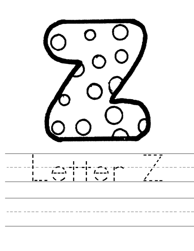 Letter Z Worksheets to Print | Activity Shelter | Alphabet and ...