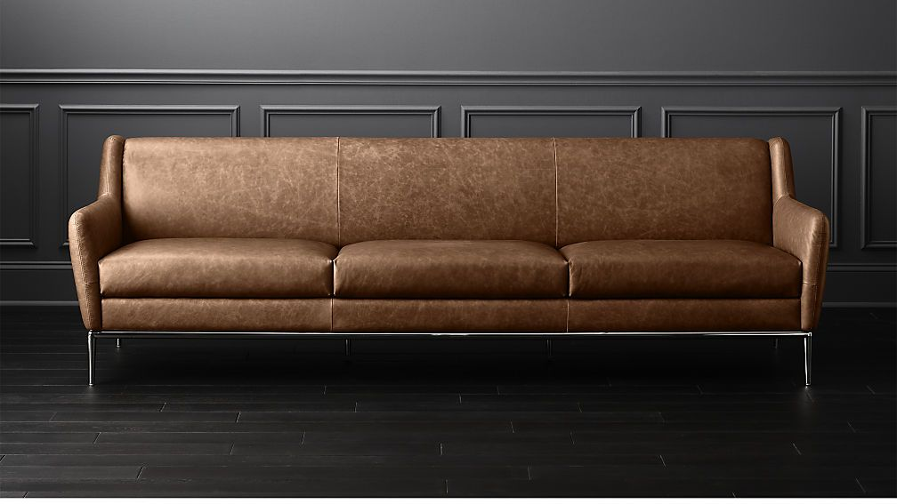 Alfredxlsofacgnlthr106inshs18 1x1 Leather Sofa Cognac Leather Sofa Leather Couch