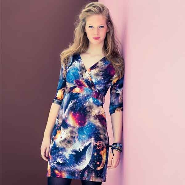 patroon tricot jurk dames
