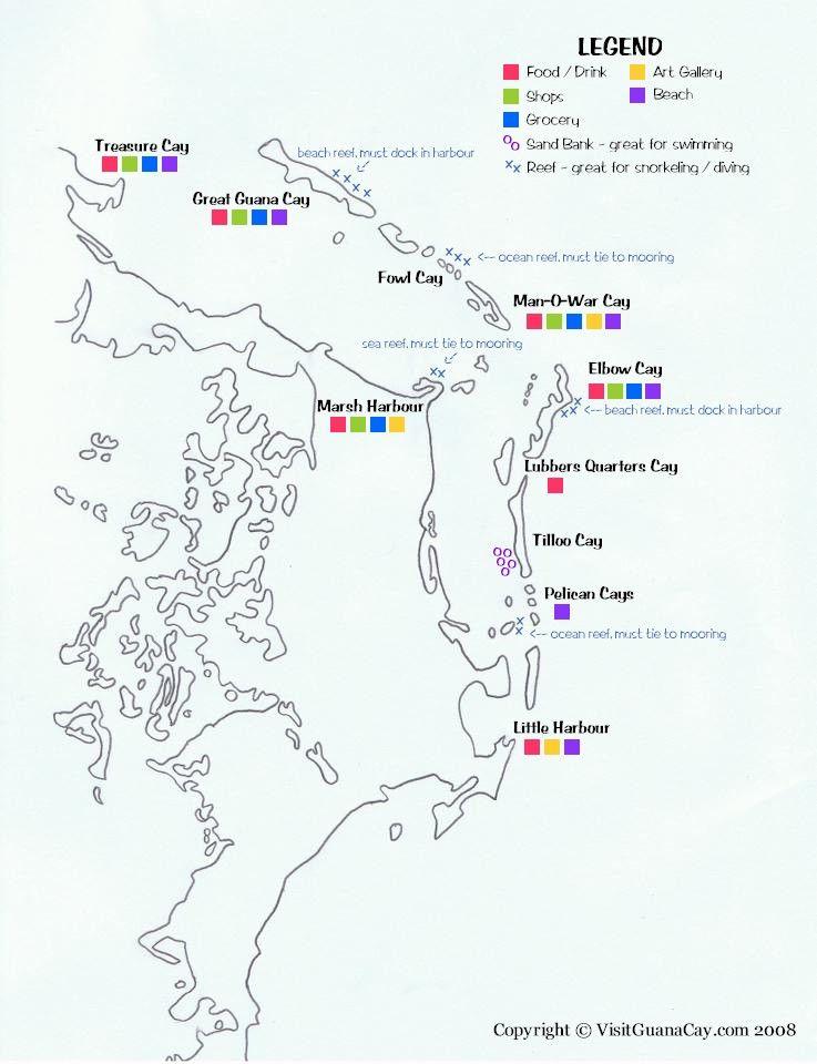 abaco boating map guana cay bahamas