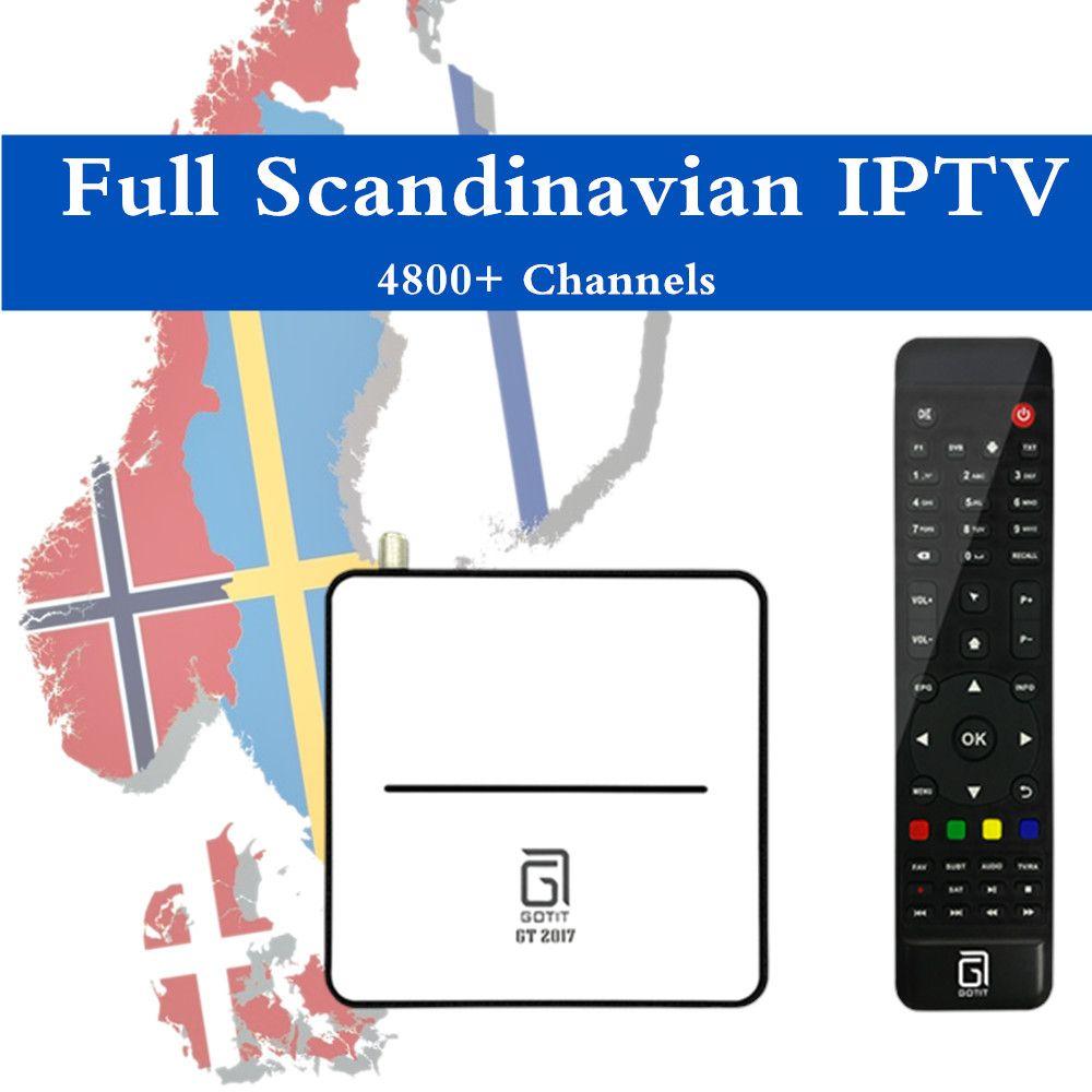 Swedish Iptv Gotit Hybrid Android Dvb S2 Satellite Receiver 1 Year Scandinavian Iptv Amlogic S905 Pvr Timeshift Android Tv Box Satellite Receiver Satellite Tv