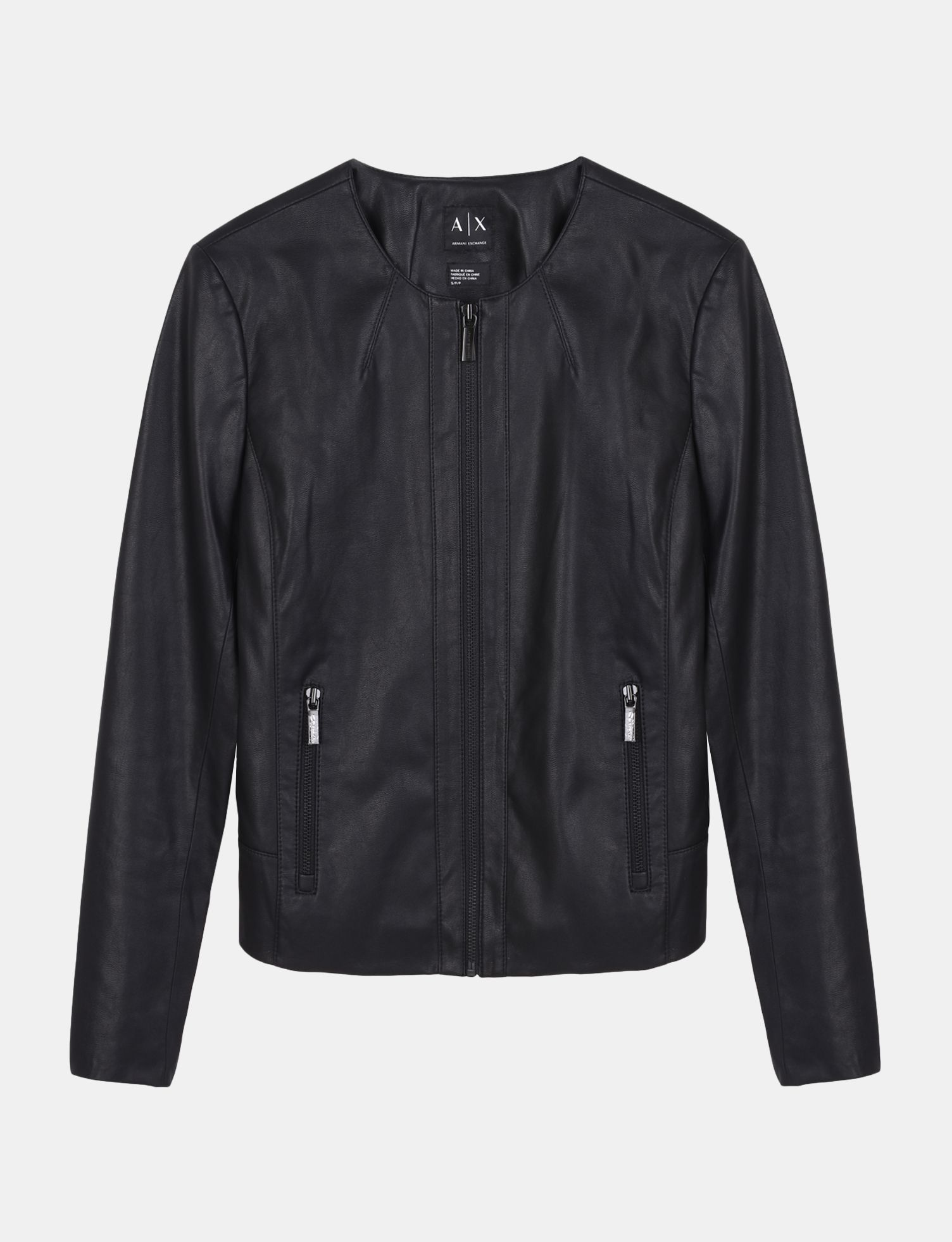 Armani Exchange FAUX LEATHER JACKET, Blouson Jacket for